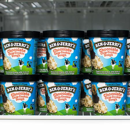 Freezer full of Ben & Jerry's